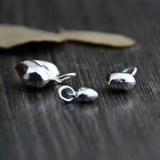 Elegant 925 Sterling Silver 13mm Loose Heart Charm Big Beads 10pcs/Lot