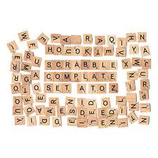 100pcs/set Wooden Scrabble Tiles Black Letters Crafts Accessories 18 * 20mm