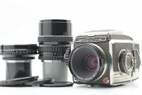 【N MINT】ZENZA BRONICA  S W/Nikkor 50mm F3.5,75mm F2.8,200mm F4 Lens From JAPAN