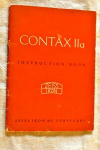 Zeiss Ikon Contax lla Instruction Book in English, 34 pages, excellent