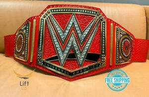 Universal Championship Replica Title Belt RED Adult Size Brass 2mm NEW