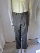 New Remus Uomo Elgan Men's Smart Brown Polyester Wool Lycra Trousers Size 34S