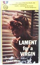 LAMENT FOR A VIRGIN by Lionel White 1960 vintage pb 1st edition (Mystery)