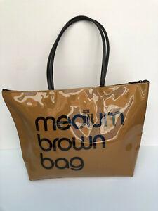 Bloomingdales Medium Brown bag shoulder tote PVC classic shopper