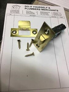 "Tubular Mortice Door Latch Catch Brass Finish 64mm (2½"") QUALITY"
