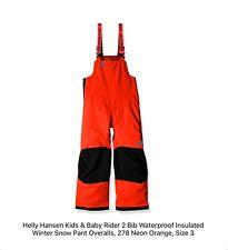 Helly Hansen Kids & Baby Rider  2 Bib Waterproof Winter Snow Pant Overall Size3