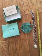 """Tiffany @ Co 9"""" Collana/House trova/usato/925 Argento Sterling/con CUSTODIA"""