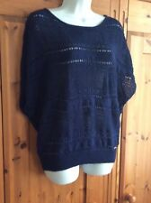 GUESS woman's  blue sparkly jumper size M