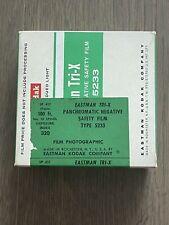 RARE! Eastman Kodak Negative Tri-X, 5233 B&W film 35mm x30.5m 100'ft Bulk Roll