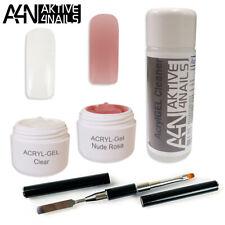PolyGel AcrylGel BASIC 2 Set UVGel Geruchsfrei mit Toolbrush leicht befeilbar