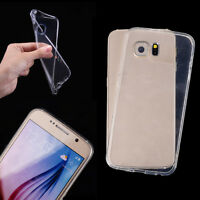 Ultra Thin Transparent Soft TPU Back Case Cover For Samsung Galaxy S6 Edge W8