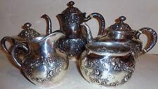 Antique Gorham Fleury sterling silver 5 pieces tea / coffee set A3550 repousse
