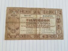 Nederland , Zilverbon 1 Gulden 1938 , Serie HV 280721