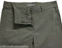 New Womens Marks & Spencer Green Chino Trousers Size 12 10 Leg 31 30 DEFECTS