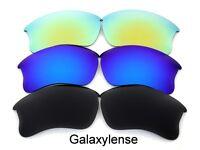 Galaxy Replacement Lenses For Oakley Flak Jacket XLJ Sunglasses Black&Blue&Gold