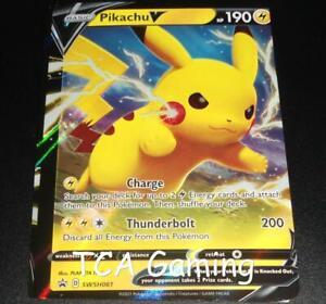 MIS-CUT Pikachu V SWSH061 ERROR/MISPRINT Promo HOLO Pokemon Card