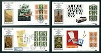 1990 BENHAM Financial Times DX9 set of 4 Booklet Pane FDC. First Day Covers