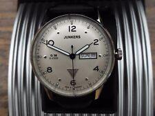Superba Junkers Uomo Orologio al Quarzo XL su cuoio 69441 38 G Nuovo in Scatola