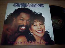 "NM 1990 Ashford & Simpson Hungry For Me Again 12"" Single Sample LP Album"