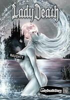 "Lady Death  ""Naughty Azure""   Metallicard  Ltd. Ed. 99 with Arr by Mike Krome"