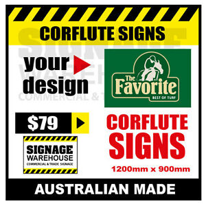 Custom Corflute Sign - Corflute 900mm x 1200mm - by Signage Warehouse