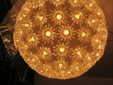 """VINTAGE CLEAR CHRISTMAS BALL LIGHT SPHERE HANGING PARTY LIGHTS 7"""""""