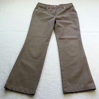 Escada Womens brown Cropped Ankle Pants Slacks Size 34  US 4