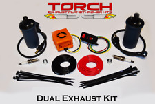 Torch Dual Exhaust Flame Thrower Kit - American Muscle, Hotrod, JDM, Universal