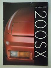 NISSAN 200SX orig 1990 UK Mkt 20 Page Sales Brochure