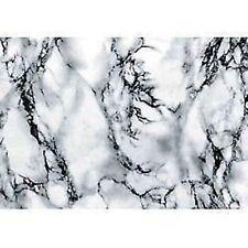 Sticky Back Plastic White Marble 67.5cm X 2m Roll Cover For Worktops Shelves Etc