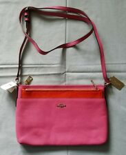 NWT COACH F52377 SWINGPACK WITH POP-UP POUCH IN EMBOSSED TEXTURED LEATHER