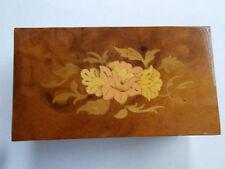 VINTAGE Italiano Attardi Sorrento intarsiata in legno Ciondolo Box Adesivo Base (ref52)