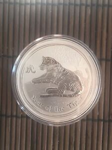 1 Unze Silber Australien 1$ Lunar 2  TIGER 2010