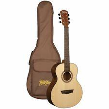 Washburn AGM5K G-Mini Grand Auditorium Acoustic Travel Guitar w/Gig Bag, Natural