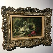 Oliver Clare c.1876 London Oil On Canvas Original Frame Robins Egg Bird Nest