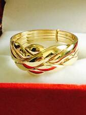 Solid 9k Yellow Gold 4 Band Turkish Puzzle Ring-FREE SHIPPING! Size from 4 to 11