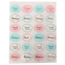 Golden THANK YOU Oval Stickers Labels Sealing Wedding Party Favors 24pcs CAJR