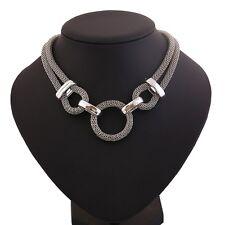 Damen Halsreif Statement Collier Kette Blogger Metall Choker Halskette Mode