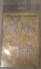 Gina Marie designs metal cutting dies - Deer family die - Buck doe babies