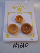 #1610 lotto di 3 pulsanti Arancione/Caramello