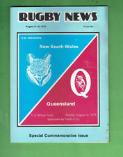 #D356. Rugby Union News 12th August 1979, New South Wales V Queensland