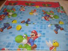 Nintendo Super Mario Bros Full Flat Sheet COLORFUL Blue Red Yellow