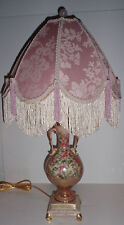 Vintage- Porcelain Hand Decorated/Heavily Gilded Table Lamp by Beckwith & Shade
