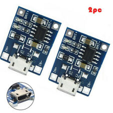 2PCS 1A 5V TP4056 Lithium Battery Charging Module USB Board Electronic Compon FT