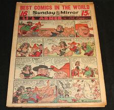 1951 Sunday Mirror Weekly Comic Section December 16th (Fine) Superman Schmoo