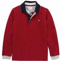 Armani Junior Boys Top Full Sleeve Polo T Shirt 100% Genuine 16yrs/175cm Red