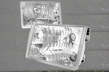 93-98 Jeep Grand Cherokee Crystal Clear Chrome Housing Headlights Better Light
