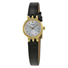 Tissot Lovely Silver Dial Black leather Ladies Watch T058.009.36.031.00