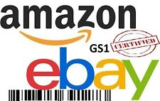 10 UPC EAN Codes Certified Numbers Barcodes Amazon Ebay Lifetime Guarantee
