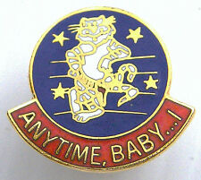 US AIR FORCE F14 TOMCAT FIGHTER ANYTIME BABY MILITARY PIN LAPEL BADGE